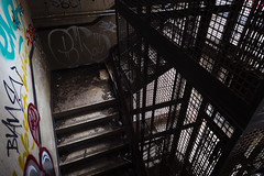 the only way is up... (I AM JAMIE KING) Tags: graffiti lordline standrewsdock abandoned decay derelict dock fishingindustry heritage hull stairs stairwell