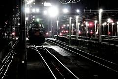 Takeshita station at night (Sat Sue) Tags: gx7mk2 gx80 gx85 japan fukuoka jr railroad