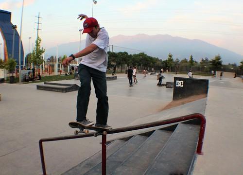 Skateboarding variado