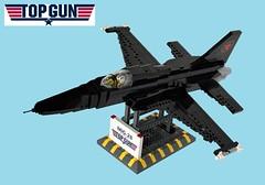 "MIG-28 as featured in ""Top Gun"" (Lego Admiral) Tags: topgun lego jet mig28 mig fighter plane warplane f5 northtrop usnavy navy"