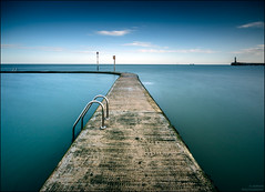 ______I______ (Kevin HARWIN) Tags: water sea beach sand tidal pool steps boay sky cloud long exposure canon eos m3 sigma 1020mm lens margate kent thanet south east england britain uk tripod