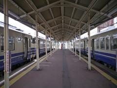 The paradise of キハ40 (しまむー) Tags: panasonic lumix gx1 g 20mm f17 asph natural train tsugaru free pass 津軽フリーパス