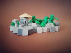 In the jungle MOC (betweenbrickwalls) Tags: lego moc afol microscale nanoscale jungle stone art