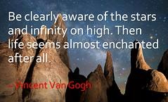 Infinity on High (Steven Christenson) Tags: milkyway vincentvangogh infinityonhigh alabamahills california stars night quote painted spires rocks