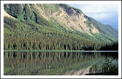 Emerald Lake Reflections - Yoho National Park, 1979 (sjb4photos) Tags: canada britishcolumbia canadianrockies emeraldlake yohonationalpark reflection