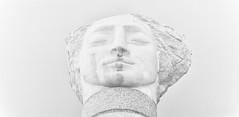 angel III (khrawlings) Tags: angel iii 3 sculpture paternosterrow white highkey bw blackandwhite monochrome head face stone eyes closed london emilyyoung stpauls churchyard cathedral city