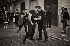 Preparations of the Strong Men (Stefan Zwi.) Tags: karfreitag goodfriday osterprozession palma mallorca monochrome monochrom street strasenfotografie semanasanta