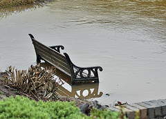 A stroll by the river 01 (Row 17) Tags: england shropshire ironbridge telford riversevern river rivers riverside flood bench waterway waterways waterfront water worldheritagesite coalbrookdale severnvalley