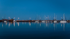 Twilight in Rethymnon (PhredKH) Tags: canonphotography fredkh photosbyphredkh phredkh splendid rethymnon crete water waterfront harbour boats yachts reflections waterways twilight b blue bluesky bluewater scenic picturesque travelphotography traveltocrete coastalcrete outdoorphotography nightphotography nightscene sky boat bay sea greece greek traveltogreece