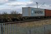 607105 Kingsthorpe 220318 (Dan86401) Tags: wilsonscrossing kingsthorpe northampton wcml 4l90 607105 fta freightliner fl inner intermodal modal containerflat wagon freight arbelfauvet maersk