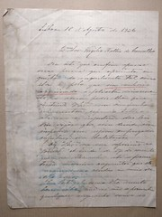 Carta para Virgílio Wallis de Carvalho, de 1926 (ACMateus) Tags: antiguidades coleccionismo velharias carta