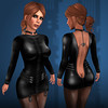 GRAVES Backfire (Jackie GRAVES) Tags: leather latex cyberpunk wetlook fashion girl woman sl secondlife collar cuffs belts boots scifi sciencefiction fantasy rubber virtualreality vr backless dress tights