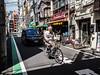 Satake Cyclist (ColinParte) Tags: okachimachi cyclist elderly street photography