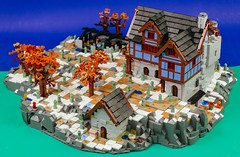 Heroica Snowed Inn 06 (cjedwards47) Tags: lego moc heroica game advancedheroica castle inn zombie zombies snow winter microscale