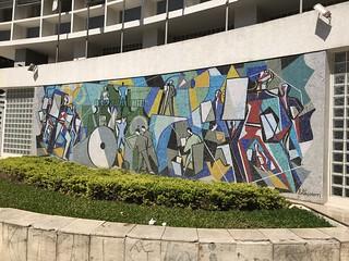 Press (Imprensa), mosaic by Di Cavalcanti, downtown São Paulo, Brazil.