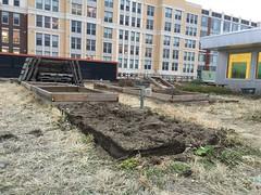 Beginning of 2018 NW Rooftop Garden growing season.