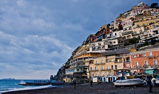Evening on Positano beach