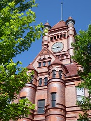 Wheaton, IL, Old Courthouse, 1896 -- Now a Condo Conversion (Mary Warren 10.8+ Million Views) Tags: wheatonil courthouse architecture building bricks tower clock lightningrod