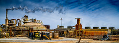 J.M. Leathers Geothermal Plant (Chuck Holland) Tags: geothermal energy plant salton sea desert energyproduction electric power blue sky mysterious rusty industrial utility jmleathers calenergy calipatria ca california renewableresource clouds steam turbine coolingtower