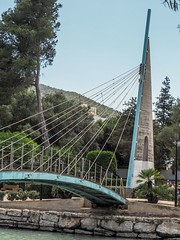 Santa Eularia, Ibiza. (CWhatPhotos) Tags: cwhatphotos bridge cross crossing suspension path public walkway photographs photograph pics pictures pic picture image images foto fotos photography artistic that have which contain olympus camera holiday holidays hols hol june 2018 ibizan ibiza santa eularia