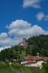 up to Castle Liebenzell (tucsontec) Tags: badliebenzell badenwürttemberg outdoor tourism clouds cloudscape wolken berg hill rock wald forest blackforest burg castle landscape landschaft
