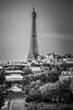 La Belle Eiffel (SCH NYC) Tags: architecture canon canonlserieslens france lserieslens landmark latoureiffel paris parisfrance stevehess schnyc theeiffeltower monochrome bw blackandwhite