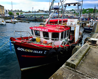 Scotland West Highlands Argyll the island of Bute a fishing trawler called Golden Isles 26 May 2018 by Anne MacKay