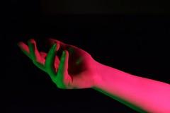 (josie.bell) Tags: pink green reach hand arm fingers lighting shadows colour