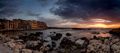 Abandoned Factory (thelimla) Tags: greece crete chania abandoned factory sunset sea canon