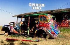 Amarillo, TX. (olliereilly8) Tags: america texas amarillo usa motel rustycar rust oldcar streetart art graffiti spraypaint paint car volkswagen vw