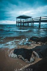 On The Rocks (C.R Images) Tags: storm rain weather long exposure beach landscape seascape