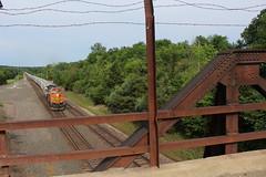 BNSF 4587 (CC 8039) Tags: bnsf trains ac44cw c449w bridge montrose iowa