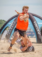Powering Through (Chris Willis 10) Tags: beachrugby bournemouth sport outdoors men exercising people action muscularbuild athlete healthylifestyle caucasianethnicity lifestyles fun males sportsclothing adult sportstraining strength beach playing summer