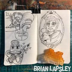 Weekend Doodles 👀🚀 (Brian Lapsley) Tags: sketch lifedrawing cat robot tolkien baggins art journal doodle draw illustration
