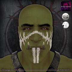 [ new release - grim warpaint ] ([ sithas ]) Tags: sithasslade secondlife thesanguinetree newrelease release warpaint facepaint war face norse nordic fantasy rp roleplay roleplaying battle warrior grim catwa lelutka omega applier tintable fresh faded worn tint