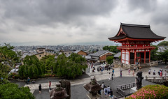 View From the Top (D Song) Tags: japan kyoto temple view city urban clouds travel vacation asia dslr canon hdr