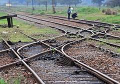 Railways (carlos_ar2000) Tags: vias railways dof campo country gente people rural calle street altamirano buenosaires argentina cruce cross linea line curva curve
