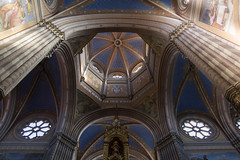 Đakovo cathedral ceiling (violaferenc) Tags: church chatedral perspective up colour pillar croatia religion temple