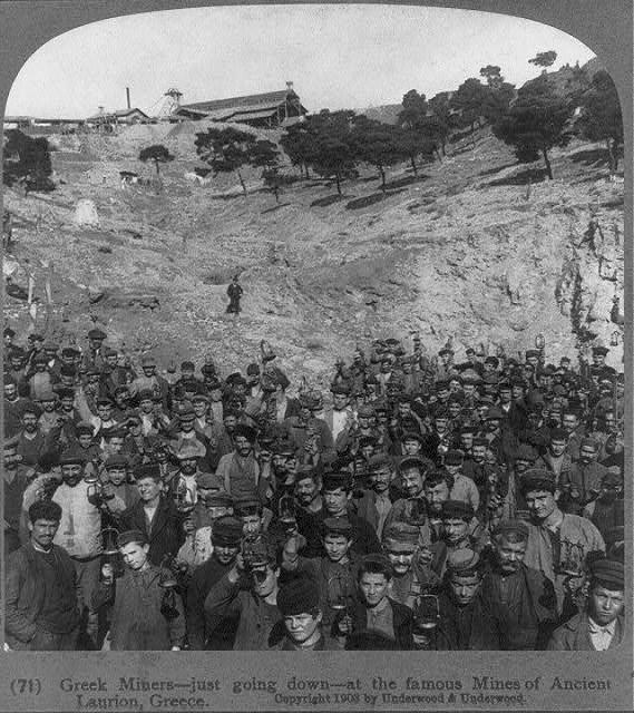 εργάτες ΛΑΥΡΙΟ 1909