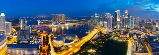 Singapore city skyline, Singapore's business district, Singapore