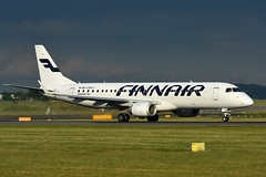 OH-LKM Embraer 190 EGPH 12-06-18 (MarkP51) Tags: ohlkm embraer 190 finnair ay fin edinburgh airport edi egph scotland aviation aircraft airplane plane image markp51 sunshine sunny airliner nikon d7200 aviationphotography