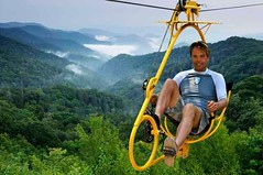 With a #bicycle through the Treetops #ecoflyer #treetop http://j.mp/2xjZjL7 (Skywalker Adventure Builders) Tags: high ropes course zipline zipwire construction design klimpark klimbos hochseilgarten waldseilpark skywalker