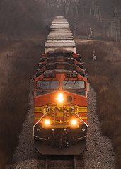 Westbound Intermodal Near Hazelhurst, IL (Christopher J May) Tags: bnsf train railroad locomotive hazelhurst millidgeville illinois il canoneosd60 canonef400mmf56l