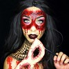 Awsome Halloween Makeup  Makeup by @dolly.phin (ineedhalloweenideas) Tags: ineedhalloweenideas halloween makeup make up ideas for 2017 happy night before christmas october 31 autumn fall spooky body paint art creepy scary pumpkin boo artist goth gothic