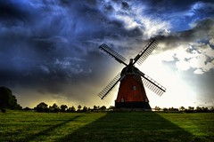 Changing weather at Bjerre mill (Neal J.Wilson) Tags: denmark danish windmill bjerrewindmill sky weather sunsets scandinavia