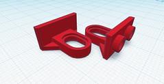 Lego suspension holder (hajdekr) Tags: lego suspension terrain moc brick modified crawler stud studs 2x1 inversed design 3d cad tinkercad