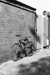 000135860028 (Harry Toumbos Photo) Tags: 35mm film ilford hp5 canon f1 50mmf12l melbourne laneway street art cycling bike road classic retro vintage steel columbus tsx campagnolo shimano dura ace ultegra