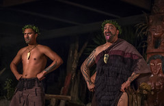 Maori Men (Robert Borden) Tags: maori hangi village dance warriors rotorua newzealand nz fuji fujifilm fujifilmxt2 fujiphotography fujiphoto fujifoto 50mm 50mmlens performance men man face eyes tongue
