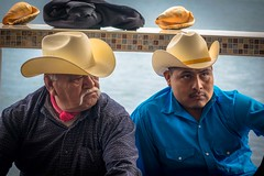 These two men were part of the group performing the traditional Yaqui deer dance.