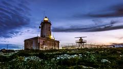 blue hour lighthouse (K.H.Reichert [ not explored ]) Tags: lighthouse leuchtturm bluehour sunset sonnenuntergang malta night blauestunde goldenstunde sky gozo